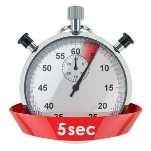 5 sec chrono