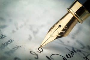Plume pour écrire
