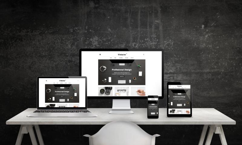 Site web en noir & blanc